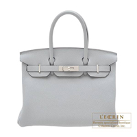Hermes Birkin bag 30 Blue glacier Togo leather Silver hardware