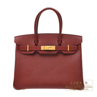 Hermes Birkin bag 30 Rouge H Epsom leather Gold hardware