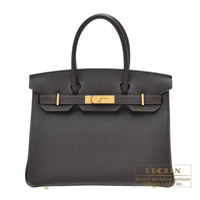 Hermes Birkin bag 30 Macassar Togo leather Gold hardware