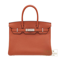 Hermes Birkin bag 30 Cuivre Togo leather Silver hardware