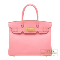 Hermes Birkin bag 30 Rose confetti Epsom leather Gold hardware