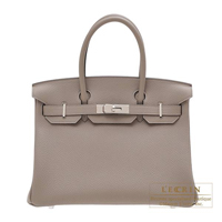 Hermes Birkin bag 30 Gris asphalt Togo leather Silver hardware