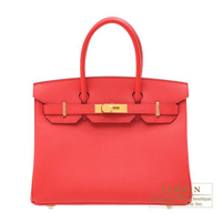 Hermes Birkin bag 30 Bougainvillier Epsom leather Matt gold hardware