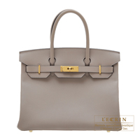 Hermes Birkin bag 30 Gris asphalt Epsom leather Gold hardware