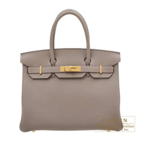 Hermes Birkin bag 30 Gris asphalt Togo leather Gold hardware
