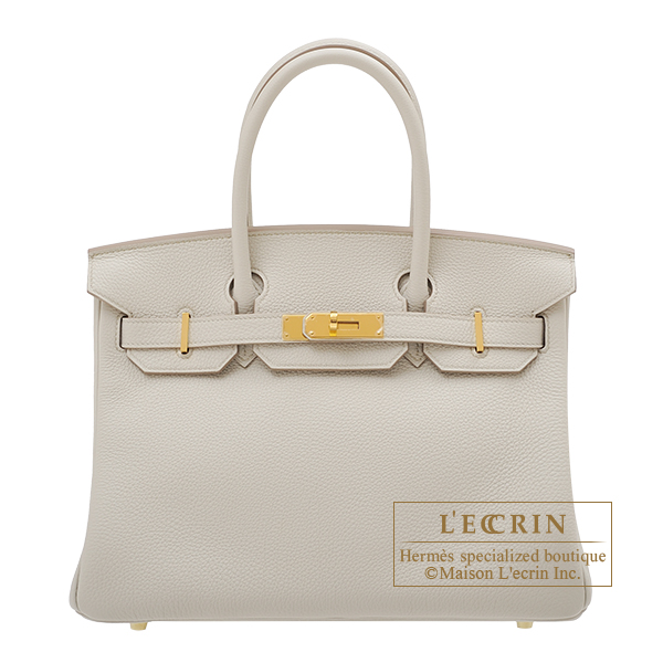 Hermes Birkin bag 30 Beton Togo leather Gold hardware