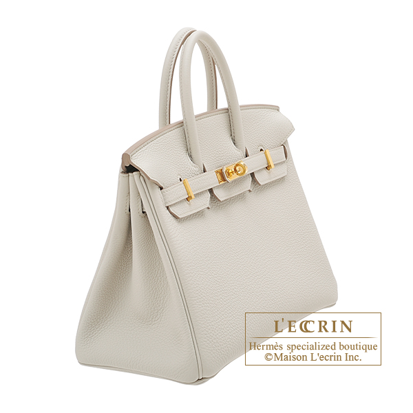 Hermes Birkin bag 25 Beton Togo leather Gold hardware