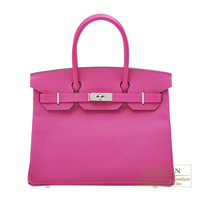 Hermes Birkin bag 30 Rose purple Epsom leather Silver hardware