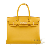 Hermes Birkin bag 30 Jaune ambre Epsom leather Gold hardware