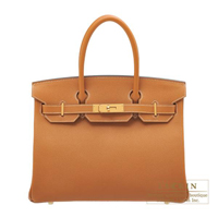 Hermes Birkin bag 30 Toffee Epsom leather Gold hardware