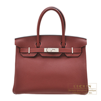 Hermes Birkin bag 30 Rouge H Togo leather Silver hardware
