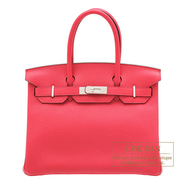 Hermes Birkin bag 30 Rose extreme Clemence leather Silver hardware