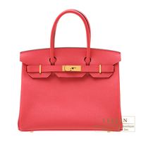 Hermes Birkin bag 30 Rose extreme Epsom leather Gold hardware