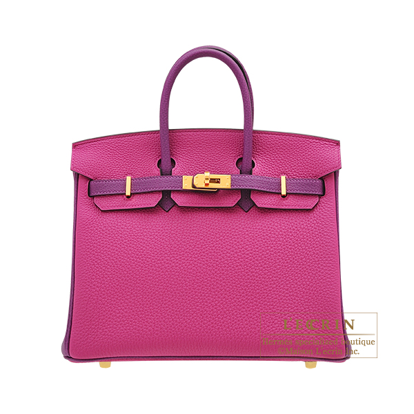 Hermes Personal Birkin bag 25 Rose purple/ Anemone Togo leather Gold hardware