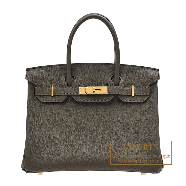 Hermes Birkin bag 30 Vert maquis Togo leather Gold hardware