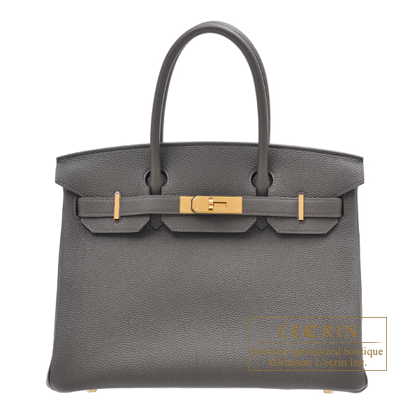 Hermes Birkin bag 30 Vert gris Togo leather Gold hardware