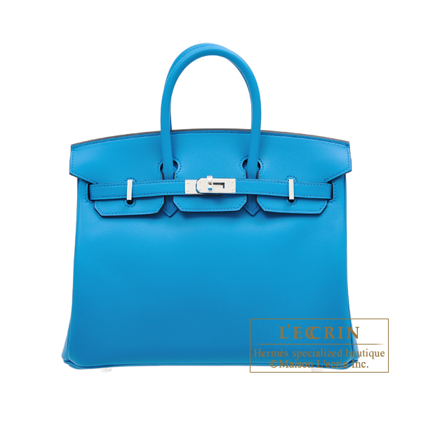 Hermes Birkin bag 25 Blue frida Swift leather Silver hardware
