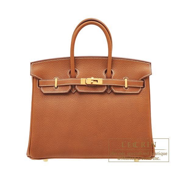 Hermes Birkin bag 25 Fauve Barenia faubourg leather Gold hardware