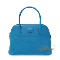 Hermes Bolide bag 27 Blue izmir Epsom leather Silver hardware