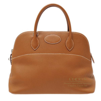 Hermes Bolide bag 35 Gold Clemence leather Silver hardware