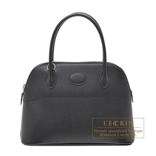 Hermes Bolide bag 27 Black Epsom leather Silver hardware