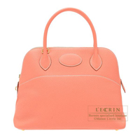 Hermes Bolide bag 31 Crevette Clemence leather Gold hardware