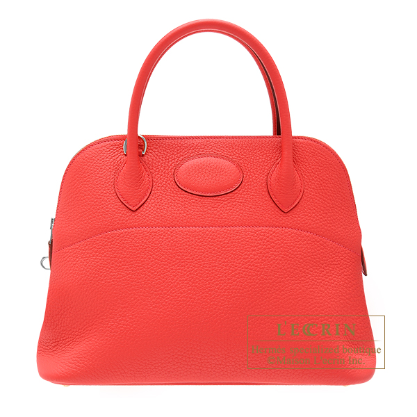 Hermes Bolide bag 31 Bougainvilleir Clemence leather Silver hardware