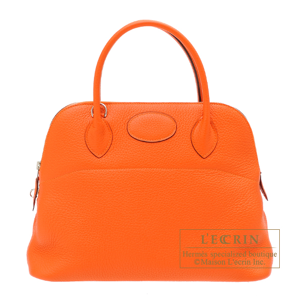 Hermes Bolide bag 31 Feu Clemence leather Silver hardware