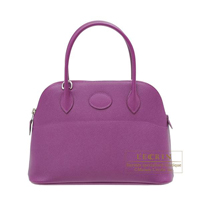 Hermes Bolide bag 27 Anemone Epsom leather Silver hardware