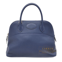 Hermes Bolide bag 31 Blue de malte Clemence leather Silver hardware