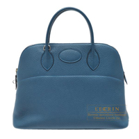 Hermes Bolide bag 35 Colvert Clemence leather Silver hardware