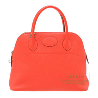Hermes Bolide bag 31 Rose jaipur Clemence leather Silver hardware