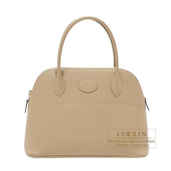 Hermes Bolide bag 27 Trench Epsom leather Silver hardware