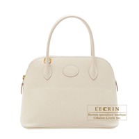 Hermes Bolide bag 27 Craie Epsom leather Gold hardware