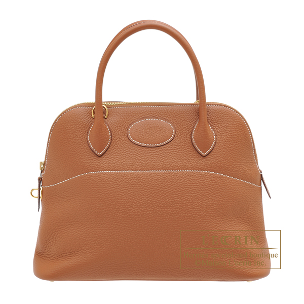 Hermes Bolide bag 31 Gold Clemence leather Gold hardware
