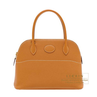 Hermes Bolide bag 27 Toffee Epsom leather Gold hardware