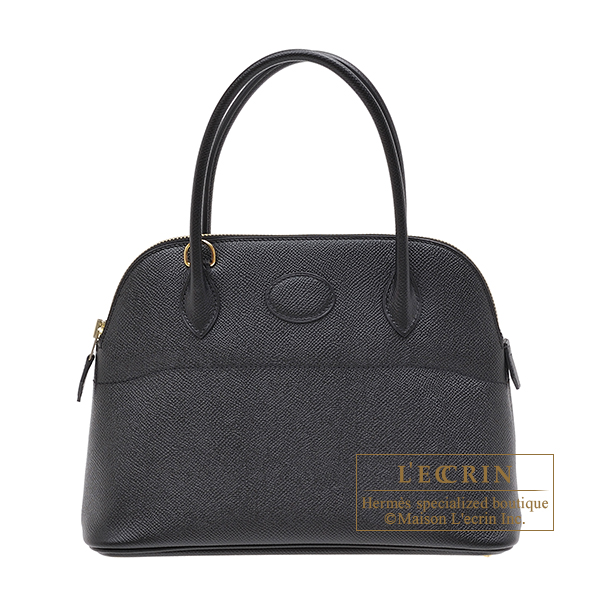 Hermes Bolide bag 27 Black Epsom leather Gold hardware