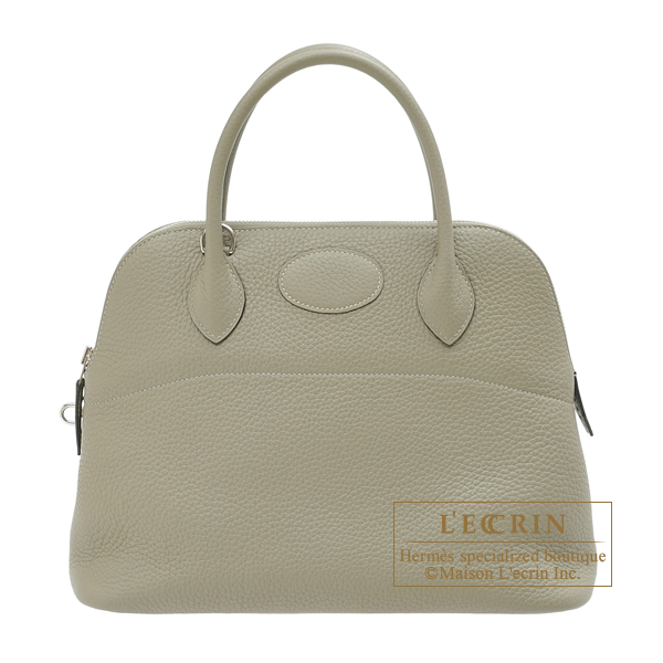 Hermes Bolide bag 31 Sauge Clemence leather Silver hardware