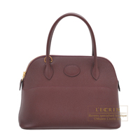 Hermes Bolide bag 27 Bordeaux Epsom leather Gold hardware