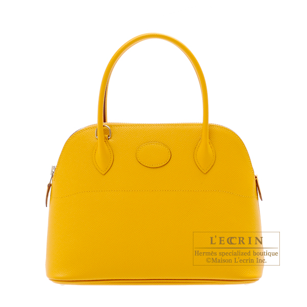 Hermes Bolide bag 27 Jaune ambre Epsom leather Silver hardware
