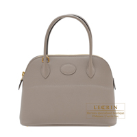 Hermes Bolide bag 27 Gris asphalt Epsom leather Gold hardware