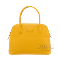 Hermes Bolide bag 27 Jaune ambre Epsom leather Gold hardware