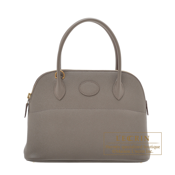 Hermes Bolide bag 27 Etain Epsom leather Gold hardware