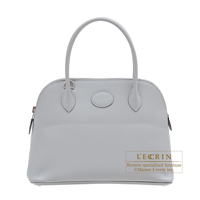 Hermes Bolide bag 27 Blue glacier Epsom leather Silver hardware