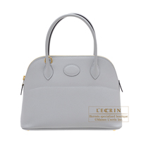 Hermes Bolide bag 27 Blue glacier Epsom leather Gold hardware