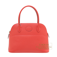 Hermes Bolide bag 27 Bougainvilleir Epsom leather Silver hardware