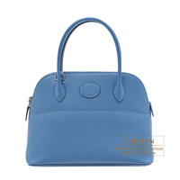 Hermes Bolide bag 27 Azur Epsom leather Silver hardware