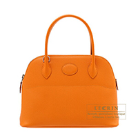 Hermes Bolide bag 27 Apricot Epsom leather Silver hardware