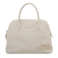 Hermes Bolide bag 31 Beton Clemence leather Silver hardware