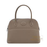 Hermes Bolide bag 27 Etoupe grey Epsom leather Silver hardware